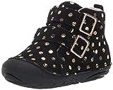 Stride Rite Girls' SM Vera Ankle Boot, Black, 4.5 M US Toddler