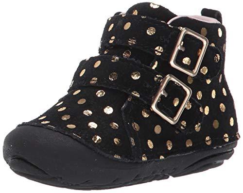 Stride Rite Girls' SM Vera Ankle Boot, Black, 5 M US Toddler