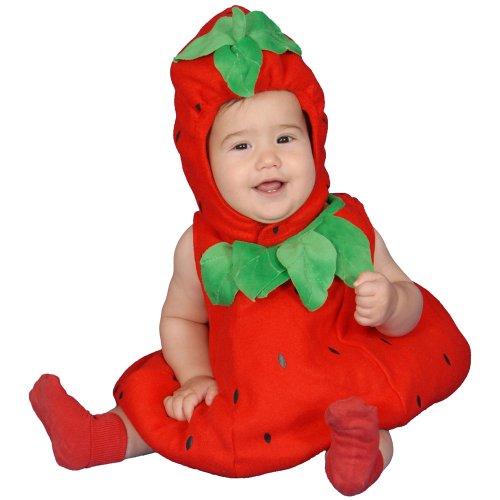 Dress Up America Costume mignon de fraise de bébé , taille 0-6 mois (poids- 3 , 5-7 kg , hauteur- 43-61 cm) , Comme la Présentation , XXXX-Small