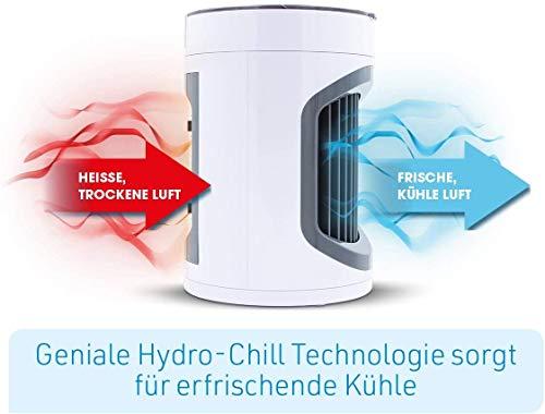 Livington SmartChill Summer-Edition – Klimagerät mit Wasserkühlung – Tragbares Klimagerät mit 3 Stufen – kraftvoller Mini Luftkühler mit Tankvolumen für 12h Kühlung - 5