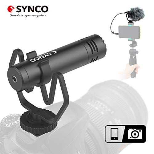 SYNCO M1 Micrófono-Cámara-Reflex-DSLR-Externo, Shotgun Micrófono...