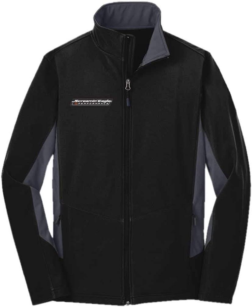 Harley-Davidson Men's Screamin' Eagle Soft Shell Outerwear Jacket, Black F318BG