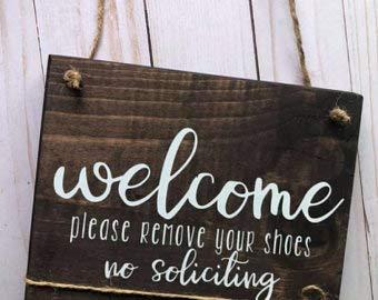 Not Branded Señal de bienvenida por favor quita tus zapatos, muestra de...
