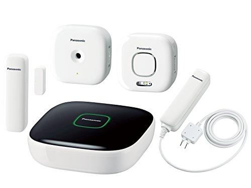 Panasonic KX-HN6014GWA-K Smart Home Starter Kit Plus Wassermelder, Glasbruchmelder, Tür/Fenstersensor, Innensirene, DECT ULE, Weiß/schwarz, 5 Stück