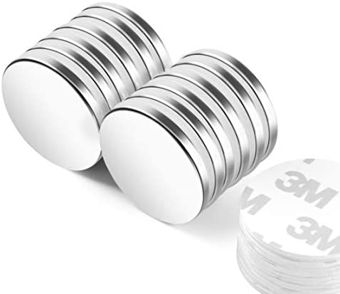 Neosmuk NSY3235 Magnets 1 26 inches Diameter Strong Rare Earth Adhesive Neodymium Disc Shaped product image