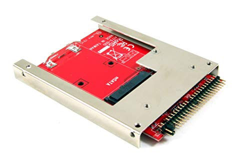 Ableconn IIDE-MSAT mSATA SSD to 2.5-Inch IDE Adapter Converter with Aluminum Frame Bracket - Latch and Retain mSATA SSD as 9.5mm 2.5