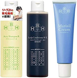 Hair Release Specialty Sleeve 21 Active Shampoo R & Maricil Cream 5.3 oz (150 g) & Scalp Conditioner B-X (For Oily Skin)