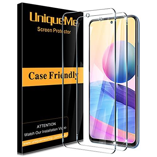 [2 Pack] UniqueMe Schutzfolie für Xiaomi Redmi Note 10 5G(Nicht kompatibel mit 4G) Panzerglas,Folie für Xiaomi Redmi Note 10 5G Bildschirmschutz, [Anti- Kratzer]HD Klar Schutzglas Gehärtetes Glas