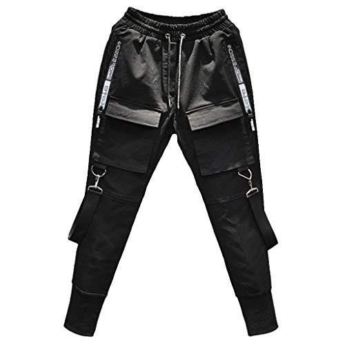 JIEXINXIN Pantalones Deportivos para Hombres, Pantalones Casuales Mallas Pantalones EláSticos Monos Autocultivo En La Calle Ligeros Y CóModos.