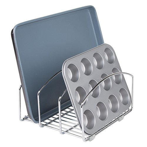 InterDesign Classico - Organizador de batería de Cocina, para Tablas de Corte y bandejas/láminas para Hornear - 20,32 cm - Cromado