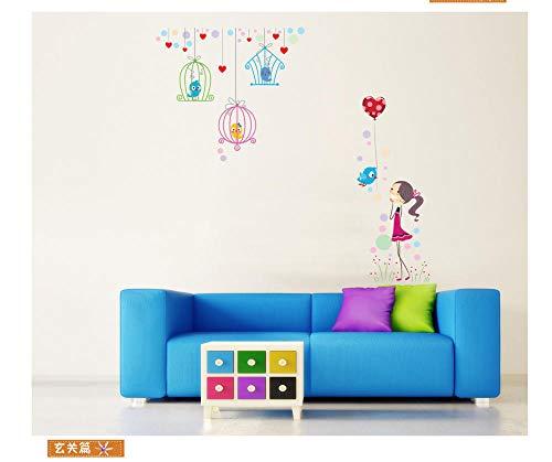 Netter Vogel entfernen 60 * 90 Farbe selbstklebende wasserdichte dekorative Wand sticker-60X90