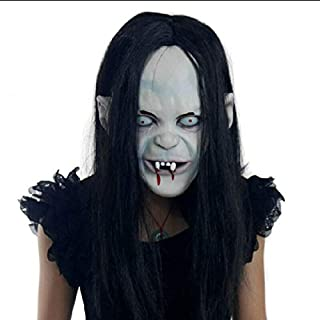 Bobozhan Halloween Zombie Mask Props Grudge Ghost Hedging Long Hair Ghost Scary Mask US