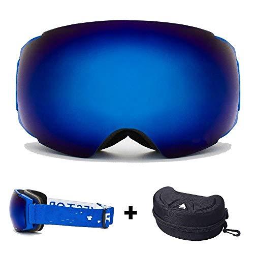Skibril heren skibril gemakkelijk verwisselbare magneten in frame en glazen, zonder sferische anti-condens-sneeuwbril te verwijderen