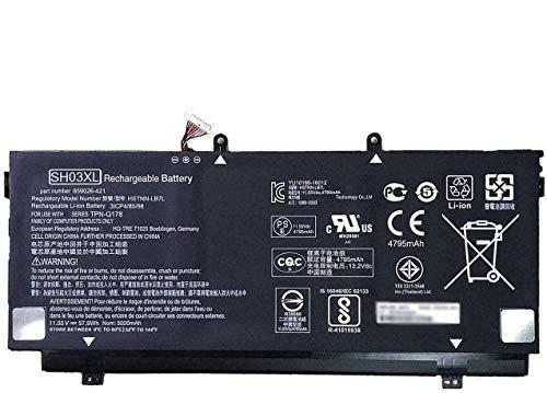 ANTIEE SH03XL HSTNN-LB7L 859026-421 859356-855 Ersatz Laptop Akku for HP Spectre x360 Konvertierbarer 13 13-W021TU 13-W020TU 13-W022TU 13-W033ng 13-W0xx 13-AC015TU 13-AC013TU (11.55V 57.9Wh)