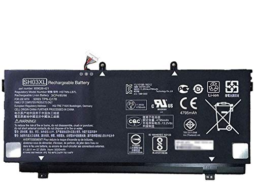 ANTIEE 57.9Wh SH03XL Laptop Battery Replacement for Hp Spectre X360 13-AC033DX 13-W013DX Series Notebook HSTNN-LB7L 901308-421 859026-421 859356-855 TPN-Q178 SHO3XL 13-AB001