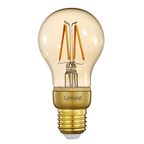Linkind Smart LED Dimmbare Edison Glühbirne, 2200K Warmweiß Zigbee Vintage Lampe, 4.2W, 420lm dekorative Retro Beleuchtung, Bridge/Hub erforderlich, Kompatibel mit Alexa und anderen Linkind-Geräte