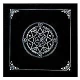 fdsfd Tarot - Mantel de adivinación para mesa de mesa de tapiz, juego de mesa de altar y alquimia, de alta calidad, de franela ligera, no estática, suave, 50 x 50 cm