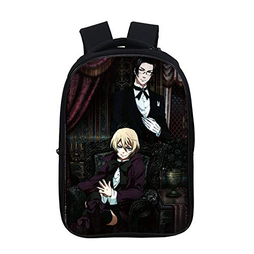 Lzjzb Black Butler 3D Anime Schoolbag with Backpack and Pencil Case for Boys Girls Kids Backpack Student 6