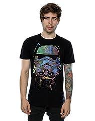 STAR WARS Hombre Stormtrooper Paint Splats Camiseta