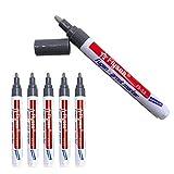 6 lápices de reparación, lechada, lechada, baldosas, lápiz de reparación, lápiz de reparación, para azulejos, pared o suelo (gris)