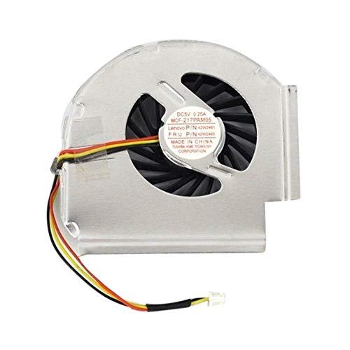 CHENHUA Ventilador de enfriamiento de Alto Rendimiento Nuevo Ventilador de la CPU for T61 T61P 3 Pines (Blade Color : Black)
