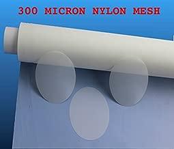 300 Micron Nylon Mesh Filter Woven Mesh Sheet Off-White Polyester Food Grade (50