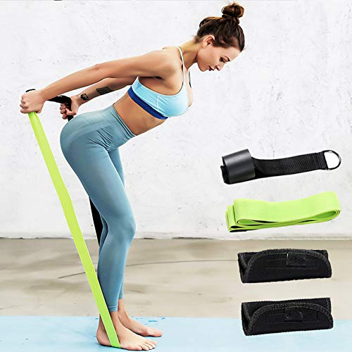 LDLL Resistance Bands Set, Fitness Bands Met Ring 2 Verwijderbare Handgrepen, Draagbare Stretch Workout Bands Professionele Yoga Stretch Band