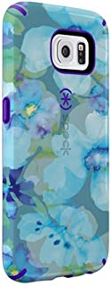 Speck Products CandyShell Inked Case for Samsung Galaxy S6 - Retail Packaging - Aqua Floral Blue/Ultraviolet Purple