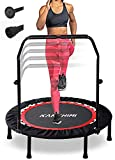 Kanchimi 40' Folding Mini Fitness Indoor Exercise Workout Rebounder Trampoline with Handle, Max Load...