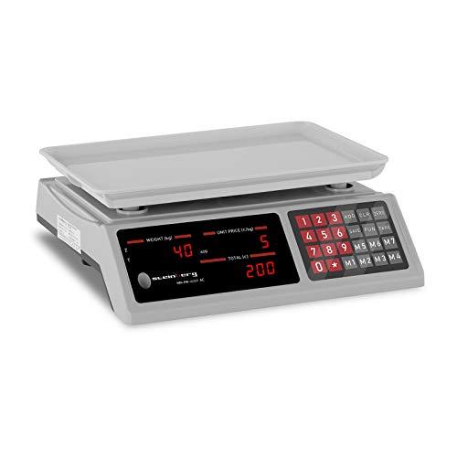 Steinberg Balanza De Control Báscula SBS-PW-402EP (Pesaje hasta 40 kg, Precisión De...