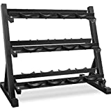 Merax 3 Tier Dumbbell Rack 800 LBS Weight Capacity (Black Color)