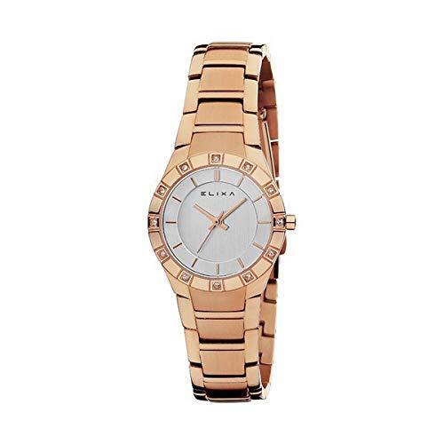 Elixa Reloj Analog-Digital para Womens de Automatic con Correa en Cloth S0318706