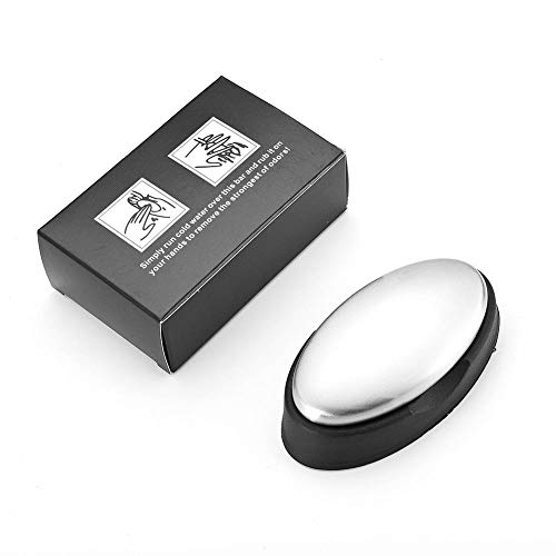 FGASAD Jabón de acero inoxidable, removedor de olores de jabón desodorante de...