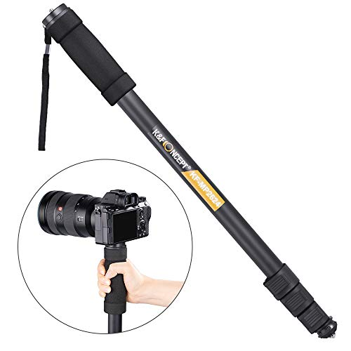 "Camera Monopod,K&F Concept 4-Section 67""/171CM Compact Portable Travel DSLR Monopod Unipod Stand Walking Trekking Stick Aluminum Alloy Lightweight SLR Cameras Canon Nikon Sony Camcorder Video"