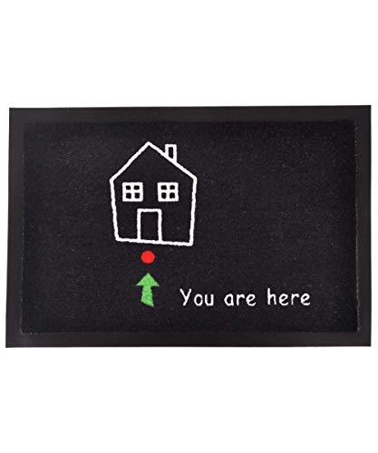 Hanse Home Fußmatte Schmutzfangmatte You Are Here, Schwarz, 40x60 cm