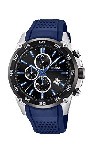 Festina Herren Chronograph Quarz Smart Watch Armbanduhr mit Silikon Armband F20330/8