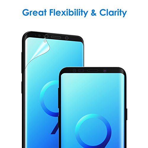 JETech Screen Protector for Samsung Galaxy S9 (NOT for S9+), TPU Ultra HD Film, Case Friendly, 2-Pack
