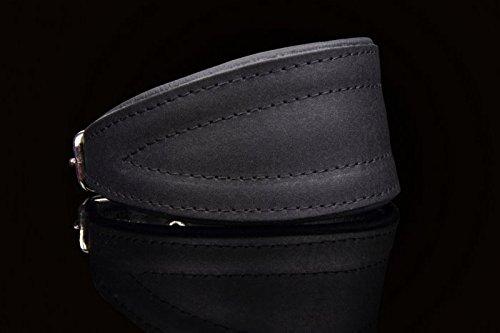 Windhundhalsband 50 cm echt Leder schwarz