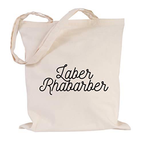 JUNIWORDS Jutebeutel, Wähle ein Motiv & Farbe, Laber Rhabarber (Beutel: Natur, Text:...