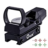 CVLIFE 1X22X33 Red Green Dot Gun Sight Riflescope Reflex Sight for 20mm Rail