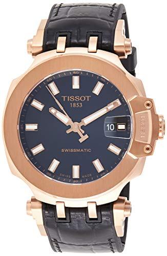 Tissot mens T-Race Stainless Steel Sport Watch Black T1154073705100