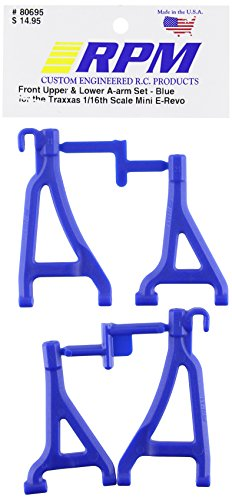 RPM 80695 Front Upper/Lower A-Arms Blue 1/16 E-Revo Blue