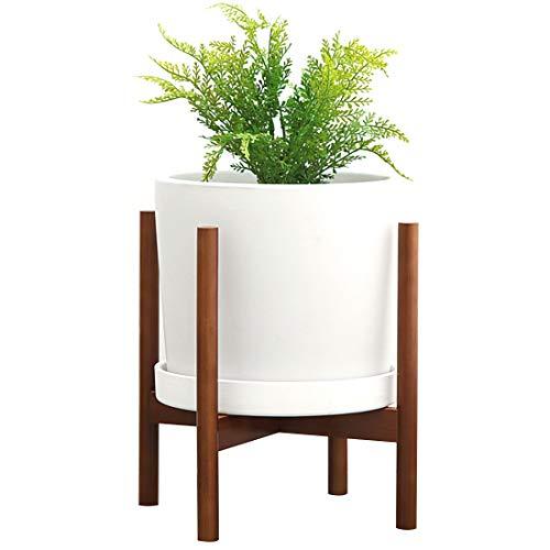 DMAXUN Portapiante Mid Century Portapiante in Legno Moderno Portavaso da Interno per Esterno per vasi Entro 25 cm (pianta e Vaso Non Inclusi)
