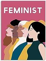 フェミニスト女性ポスター未来は女性の壁アート絵画北欧の女の子パワーポスターはリビングルームの装飾のための壁の写真を印刷します40x60cmフレームなし-1