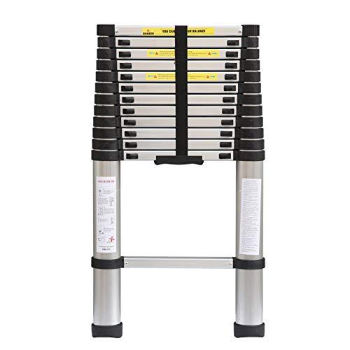 KingSaid Échelle Télescopique Polyvalente de 3.8m - Télescopique Multi-Fonction Echelle Pliable Extensible - Charge Max 150 kg