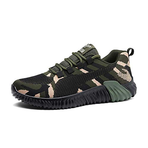 HaoLin Fashion Sneakers Women Summer Breathable Casual Shoes Men Army Green Light Trainers Lover Shoes,Green-44