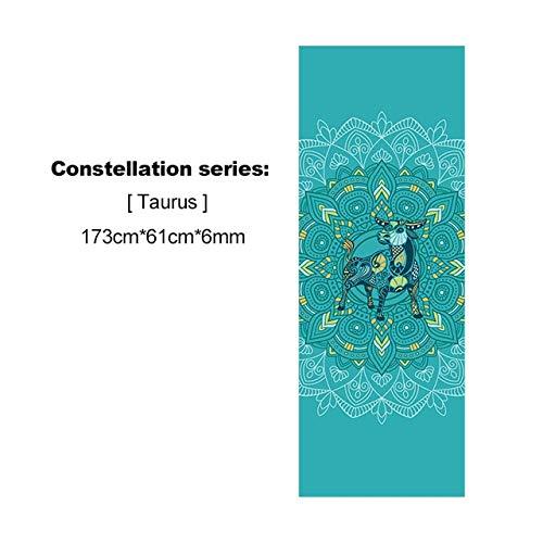 Nieuwe Pvc Mooie Constellatie Yogamat Gedrukt 6 mm Beginner Antislip Fitness Gym Mat Home Travel Mat