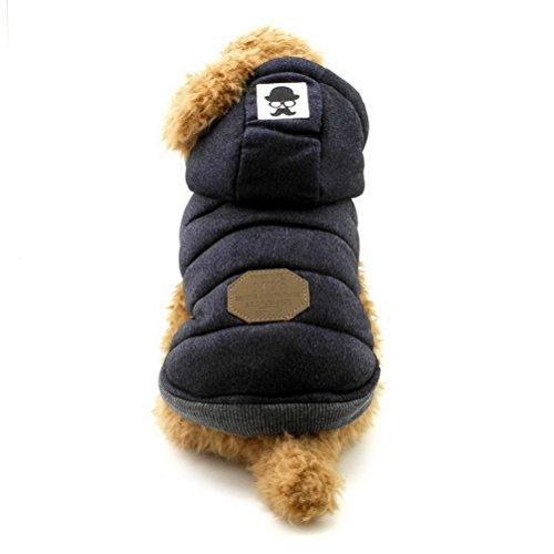 ZUNEA Chaleco de Perro pequeño Forro Polar Forrado Abrigo de Invierno cálido...