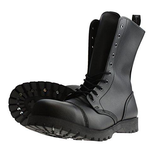 Boots & Braces - 10-Loch Stiefel Vegetarian (Vegi) Schwarz Größe 39 (UK5)