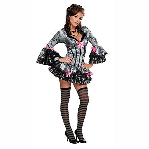 Kostüm French Kiss Gr. S-L Barock Korsage Rokkoko Karneval Fasching Rüschen Kleid M